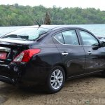 2014 Nissan Sunny facelift diesel review rear quarter