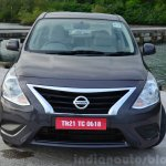 2014 Nissan Sunny facelift petrol CVT review front angle
