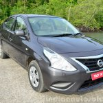 2014 Nissan Sunny facelift petrol CVT review front quarter view