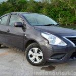 2014 Nissan Sunny facelift petrol CVT review front quarter