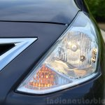2014 Nissan Sunny facelift petrol CVT review headlamp