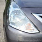 2014 Nissan Sunny facelift petrol CVT review headlight