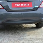 2014 Nissan Sunny facelift petrol CVT review rear bumper