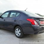 2014 Nissan Sunny facelift petrol CVT review rear quarter