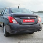 2014 Nissan Sunny facelift petrol CVT review rear quarters