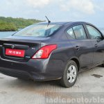 2014 Nissan Sunny facelift petrol CVT review rear three quarters