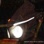 Headlamps of the Mahindra Mojo spyshot