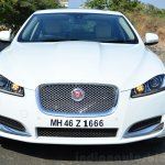Jaguar XF 2.0L Petrol Review front with lights