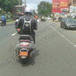 Mahindra 110cc scooter spied rear