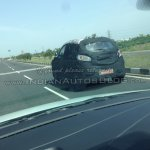 Mahindra S101 spied rear left three quarters