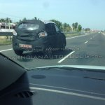 Mahindra S101 spied  rear right three quarters