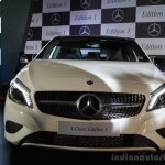Mercedes Benz A class Edition 1 launch front