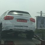 Mercedes GLA spied in India boot