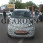 Refreshed Tata Nano spied front