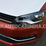 Spied 2014 VW Polo facelift India bumper