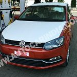 Spied 2014 VW Polo facelift India front