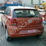 Spied 2014 VW Polo facelift India rear