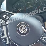 Spied 2014 VW Polo facelift India steering