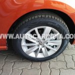 Spied 2014 VW Polo facelift India wheel