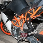Spied in India KTM RC390 frame
