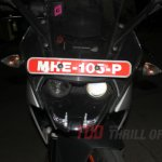 Spied in India KTM RC390 headlight