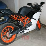 Spied in India KTM RC390 rear quarter