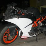 Spied in India KTM RC390 side