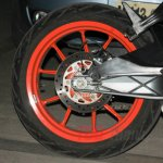 Spied in India KTM RC390 wheel