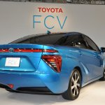 Toyota FCV sedan official image rear three quarters