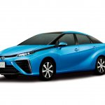 Toyota FCV sedan studio shot front three quarters