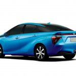 Toyota FCV sedan studio shot rear three quarters