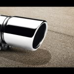 VW Polo facelift accessories - exhaust cover