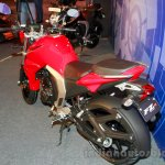 Yamaha FZ FI V2.0 red rear three quarters