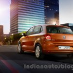 2014 VW Polo facelift India press images rear quarter