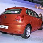 2014 VW Polo facelift rear three quarters right launch
