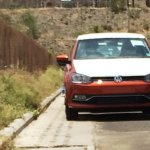 2014 VW Polo facelift spied new color front
