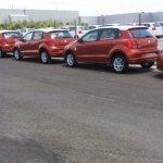 2014 VW Polo facelift spied new color rear quarter