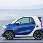 2015 Smart ForTwo press shots side angle