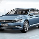 2015 VW Passat press image estate front three quarters