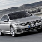 2015 VW Passat press image front three quarter