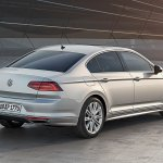 2015 VW Passat press image rear three quarter