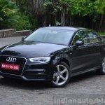 Audi A3 Sedan Review black front quarter