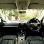 Audi A3 Sedan Review black interior