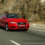 Audi A3 Sedan Review dynamic red front quarter