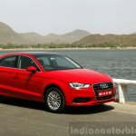 Audi A3 Sedan Review front quarters red