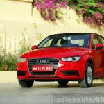 Audi A3 Sedan Review front three quarter red