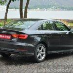 Audi A3 Sedan Review rear quarter angle