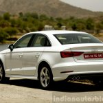 Audi A3 Sedan Review rear quarter white