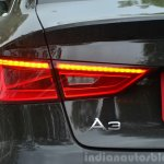 Audi A3 Sedan Review rear turn lights