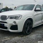 BMW X4 M Sport spied front quarter